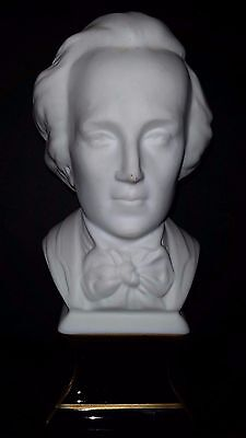 Ancienne Statue Sculpture Statuette Chopin Biscuit Limoges Tharaud Porcelaine