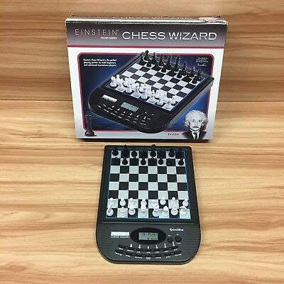 Excalibur Einstein Electronic Chess Wizard Magnetic Chess Pieces RRP £165 RARE