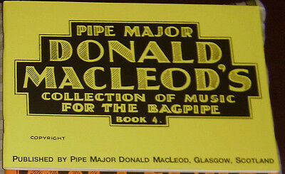 P/M Donald Macleod LIBRO 4 de Tunes For The Great Highland bagpiping Ribete