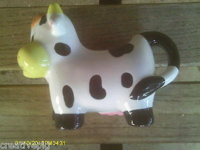 Ceramic Black Spotted Cow Dairy Creamer