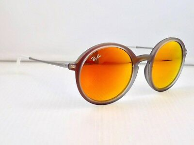 Ray Ban Highstreet Round Flash Lens RB4222 6167/6Q 50mm Sunglasses & Case