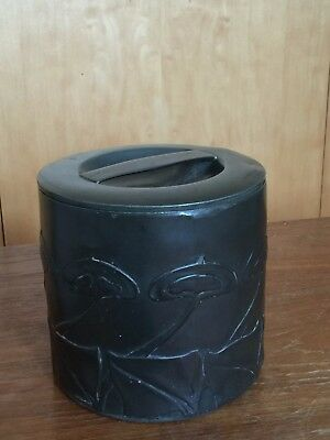 Liberty & Co Tudric Pewter Tobacco Jar and cover designed by Archibald Knox.