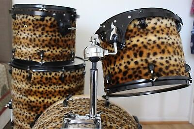 Drum Kit for Gigging and Practice - Maple Peace DNA shell pack -Cheetah Fur Wrap