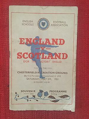 Rare England v Scotland Schools International @ Chesterfield 1951 Duncan Edwards