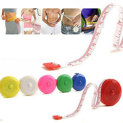 2X 150cm 60 Inch Plush Retractable Tape Measure Ruler Sewing Tool Multicolor WH