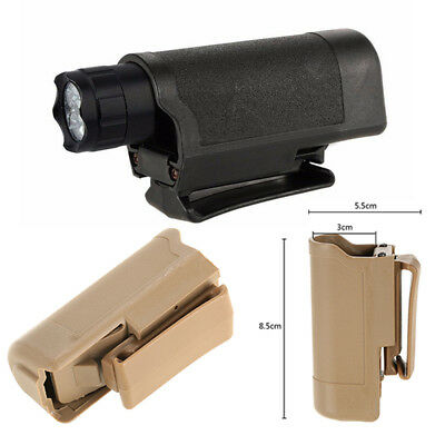 Tactical Holster Holder Carry Belt Pouch For LED Flashlight Torch