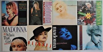 """Madonna: 8 x 7"""" Singles Incl. Crazy For You, Gambler, Open Your Heart, True Blue"""