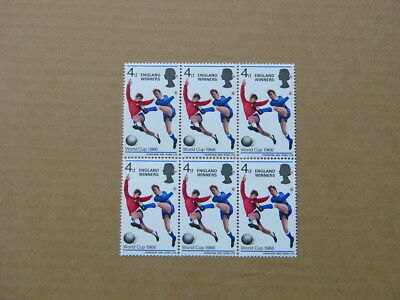 1966 England's World Cup Football Victory (Unmounted Mint Block of 6)