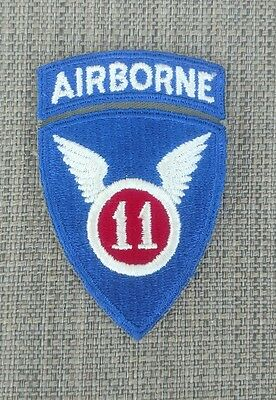 WW2 US Army 11th Airborne Infantry Division Patch & Attached Tab No Glow