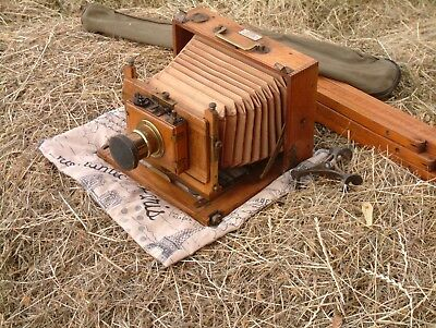Beautiful French wood tropical camera for sale