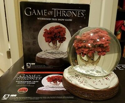 HBO Game of Thrones Weirwood Snow Globe Limited Collector's Edition Rare
