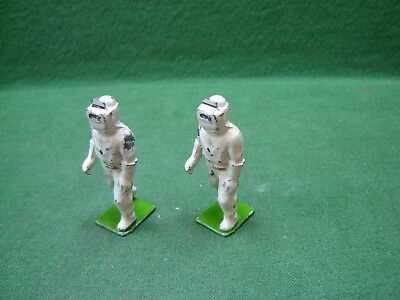 1939 Britains Hollowcast Lead RAF Firefighters in Asbestos Suits from Set 1758
