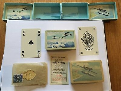 Waddingtons Dual Deck Cards 1933 W.e.johns Biggles Supermarine S6 Vickers Flying
