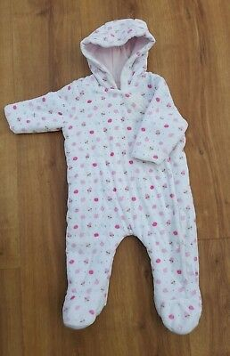 9462aa951 MOTHERCARE BABY GIRLS Pram  Snow suit Winter Coat Warm Hooded Lined ...