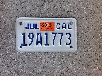 California Motorcycle License Plate