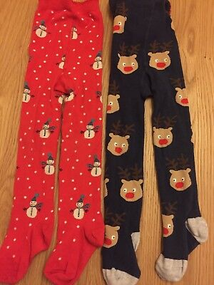 Next Girls Christmas Tights Age 3-4