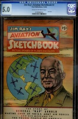 Jim Ray's Aviation #2- Cgc 5.0-Wwii Stories-1946-Great History Comic