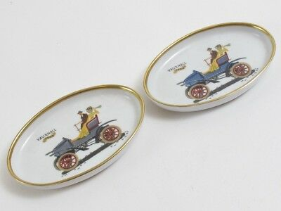 Vintage Suisse Langenthal 1903 Vauxhall Old Style Car Dishes China Porcelain