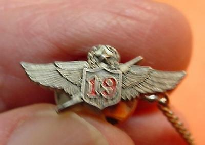 Wings Tie Tac Thunderbolt & # 19  Air Force Nice  Cond.<>Df3551