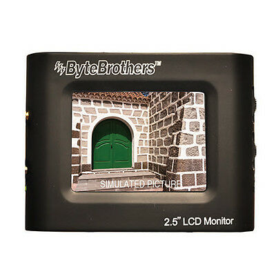 Byte Brothers VTX025 2.5 LCD Mini Color CCTV Monitor