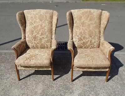 pair of parker knoll pk750 armchairs for reupholstery delivery