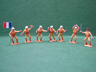 Timpo Swoppet Foreign Legion Complete Set of 6 + Extra Figure with French Flag