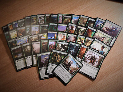 Magic the Gathering bulk job lot --- 50 x Green --- mixed cards MTG TCG