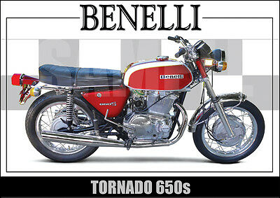 Benelli Tornado Laminated Classic Motorcycle Print /  Poster