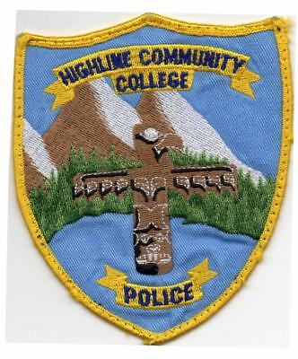 Highline Community College Police Patch WA