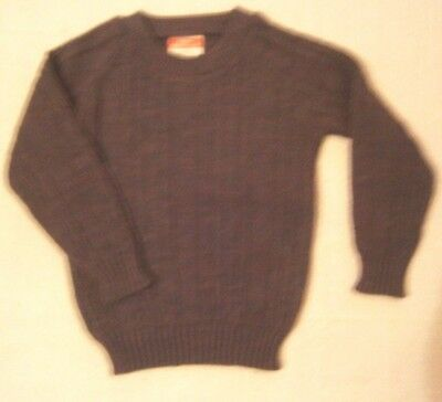 Vintage  Crew-Neck Sweater - Age 4-5 - Purple Heather Mix - Cable Pattern - New