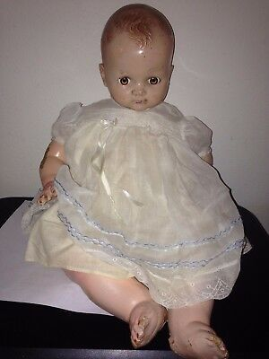 """Old Ideal Doll Composition and Cloth Doll PAT NO. 2252077 MADE IN USA 20"""" Tall"""