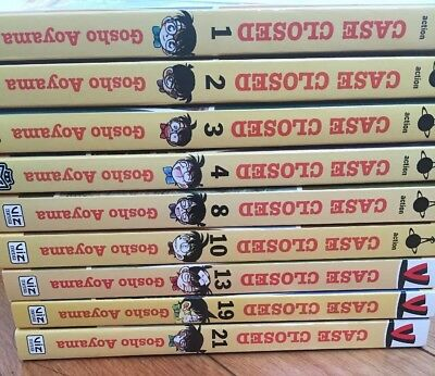 Case Closed/Detrctive Conan Manga Vol. 1-4, 8, 10, 13, 19, 21  English