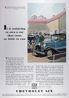 1931 CHEVROLET SIX Genuine Vintage Advertisement ~ RARE CDN AD