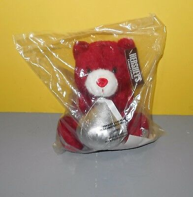 """Hershey's Kiss Red Bear Plush 8"""" Talking Says A Big Kiss From My Sweetie w/ Tag"""