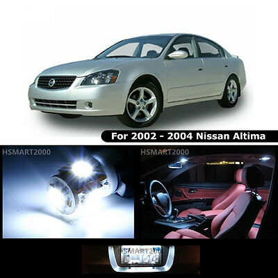 9pcs Cool White Led Interior Bulbs Package For Nissan 2002 2004