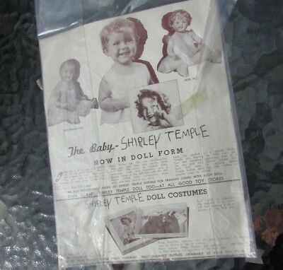 Shirley Temple Baby Doll Ad Original &1935 Photo Giveaway Rare Compo Dolls