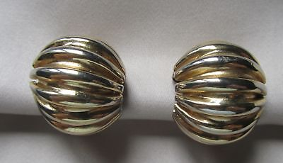 Vintage gold tone signed Napier clip on earrings