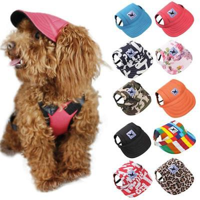 Baseball Hat Sun-shading Bucket Cap with Ear Holes For Dog Pet Cats S M JA