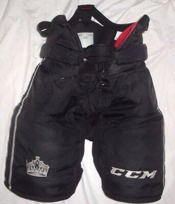 La Kings Ccm Hp45 Hockey Pant Large +1  Game Used Worn Pro Stock Return Black