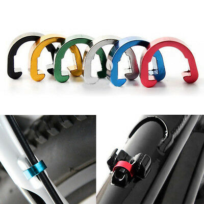Lot Bikes Bicycles MTB C-Clips Buckle Hose Brake Gear Cable Housing Guide 6Color