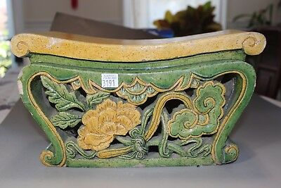 Excellent Chinese porcelain pillow or construction part in old three colors