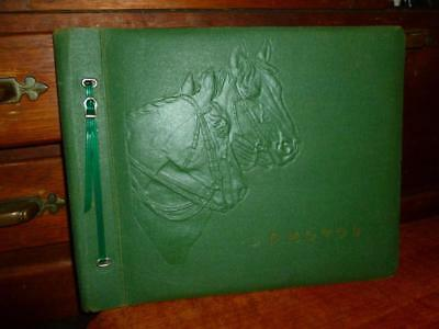 Vintage Photo Album with Embossed HORSES