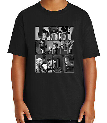 0c36a054 The Three Stooges Kid's T-shirt Larry Curly Moe Tee for Youth - 1872C