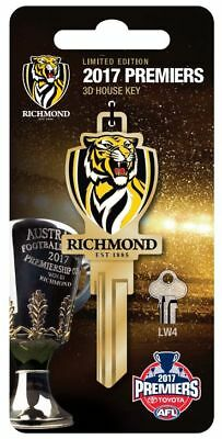 PRE-ORDER Richmond Tigers Premiers 2017 Limited Edition 3D LW4 Key Blank
