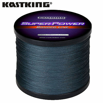 KastKing SuperPower Braided Fishing Line (547YDS-120LB) -  Gray