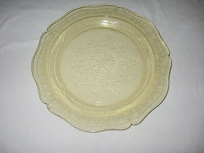 Depression Glass Platter Federal Patrician Spoke Amber Yellow 11 inches