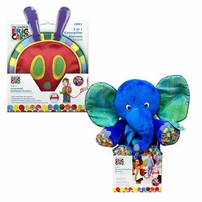 New Eric Carle Caterpillar or Elephant 2 in 1 Travel Backpack Harness for Kids