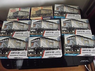 Airfix - Mineral Wagon - Job Lot of 9 Kits - Spares / Repairs etc