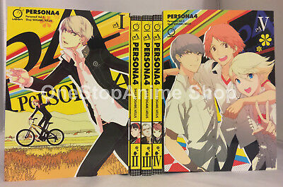 Persona 4 manga set volumes 1-5 english paperback new