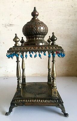 Antique Original Copper Brass Floral Design Hindu Ritual Beautiful Temple